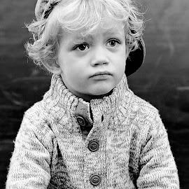 Markus by Shane Vermaak - Babies & Children Child Portraits ( canon, black and white, vintage, child portrait, handsome, people, portrait, hat )