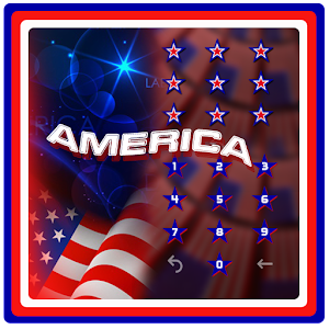 American flag liberty theme