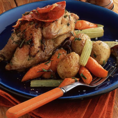 Roasted Cornish Game Hens with Mustard