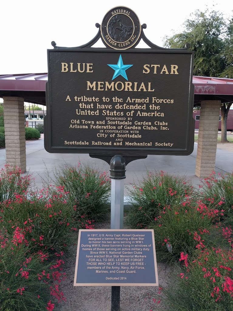 In 1917, U. S. Army Capt. Robert Queisser designed a banner featuring a Blue Star to honor his two sons serving in WW I. During WW II, National Garden Clubs have erected Blue Star Memorial Markers ...