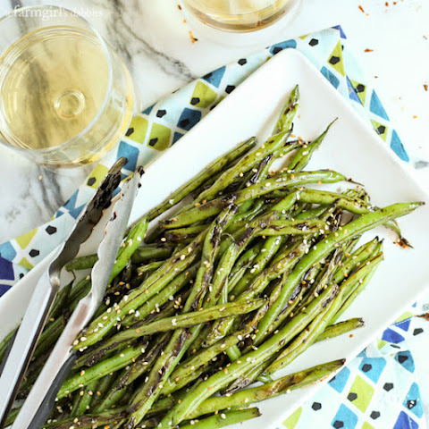 Blistered Teriyaki-Ginger Green Beans