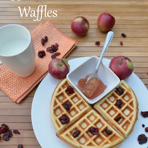 Homemade Waffle Recipe with Apple Butter