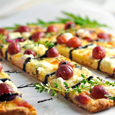 Roasted Grape Goat Cheese Balsamic Pizza