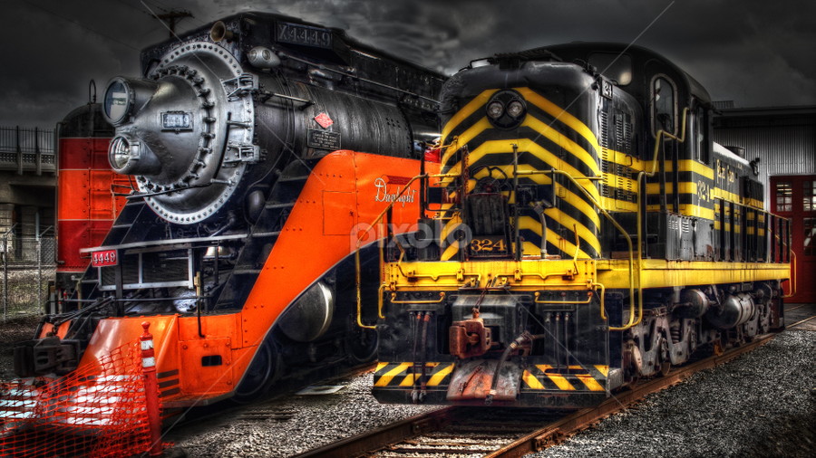 Diesel and Steam by Nickel Plate Photographics - Transportation Trains