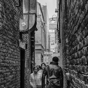 Fan Tan Alley by Carrie Cole - City,  Street & Park  Street Scenes ( canada, vancouver island, victoria, bc, fan tan alley, british columbia )