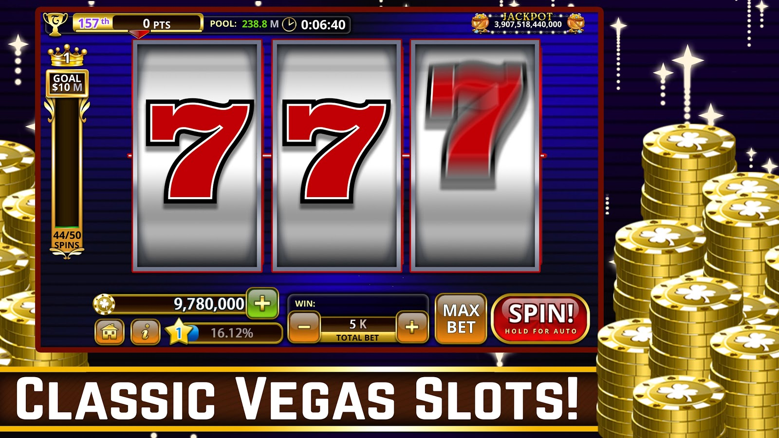 Hot Vegas SLOTS- FREE: No Ads! Screenshot 1