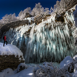 Watcher by Dani Turnšek - Landscapes Mountains & Hills ( canon, canon6d, slovenija, peričnik, ice, snow, slovenia, falls, waterfall, icecicle, pericnik, triglav )
