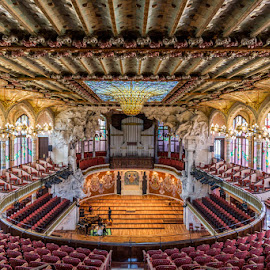 Palau de la Musica by Nikolas Ananggadipa - Buildings & Architecture Public & Historical ( building, hall, architectural, architecture, barcelona, spain )
