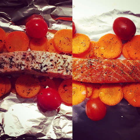 Salmon Baked in Foil with Vegetables