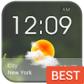 Download Transparent Glass Clock Widget APK on PC
