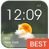 Download Transparent Glass Clock Widget APK for Android Kitkat
