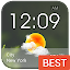 Transparent Glass Clock Widget for Lollipop - Android 5.0