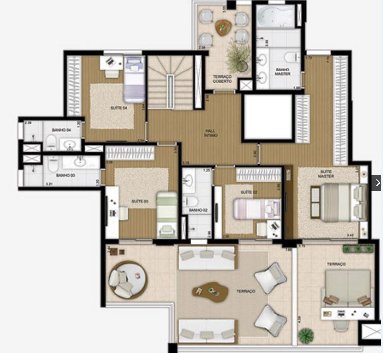Planta Duplex Superior - 332 m²