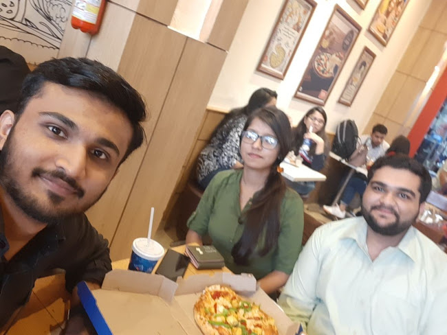 Aryan Gupta at Domino's Pizza, Connaught Place (CP), New Delhi photos