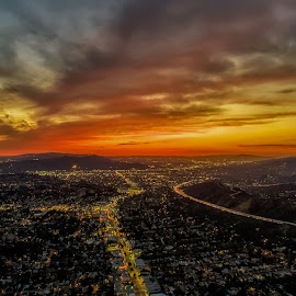 From Above by Max Juan - City,  Street & Park  Night ( maxretouch, aerial shot, eagle rock, sunset, california, night, glendale,  )