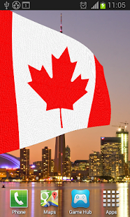 Canada Flag Live Wallpaper - screenshot
