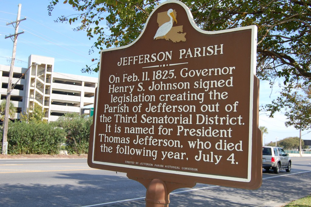 On Feb. 11, 1825, Governor Henry S. Johnson signed legislation creating the Parish of Jefferson out of the Third Senatorial District. It is named for President Thomas Jefferson, who died the ...