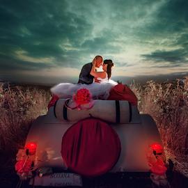 bride & groom by Dejan Nikolic Fotograf Krusevac - Wedding Bride & Groom ( car, aleksandrovac, vencanje, paracin, krusevac, sunset, wedding, cuprija, svadba, bride, vrnjacka banja, groom )