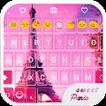 Sweet Paris Emoji Keyboard APK for Bluestacks