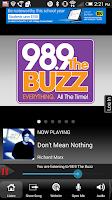 Screenshot of 98.9 The Buzz WBZA-FM