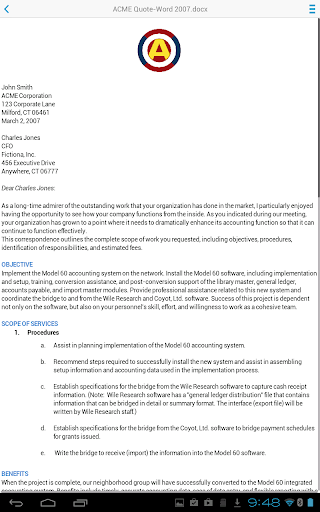 Docs To Go™ Free Office Suite screenshot 11