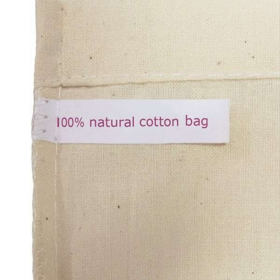 Cow rustic tote bag label