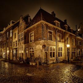 Leiden American Pilgrim Museum by Michael van der Burg - City,  Street & Park  Street Scenes ( leiden, centrum, holland, leiden american pilgrim museum, beschuitsteeg, netherlands )