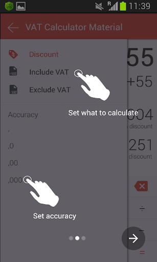 VAT Calculator Material Full - screenshot