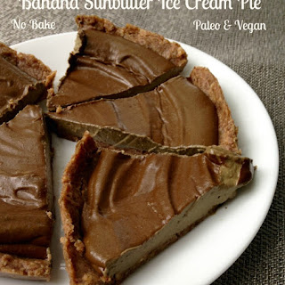 Banana Sunbutter Ice Cream Pie