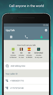 UppTalk Gratis Minuten & SMS Screenshot