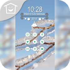 Blue sky transparent ice theme