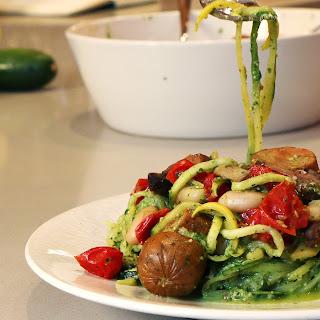 Mushroom Pesto Zucchini Pasta Recipes
