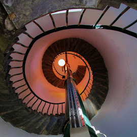 Inside the Lighthouse  by Svetlana Zovnier  - Buildings & Architecture Architectural Detail ( lendings, lighthouse, spiral, steps, light )