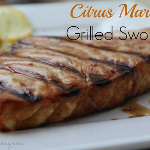 Citrus Marinade Grilled Swordfish