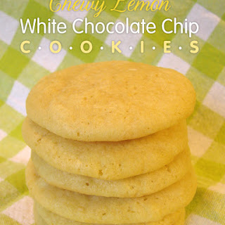 Chewy Lemon White Chocolate Chip Cookies
