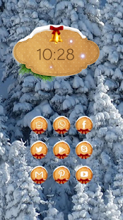 Fluffy trees theme - screenshot