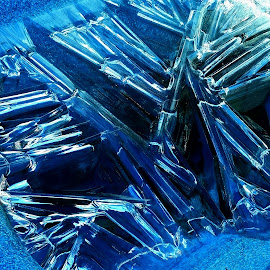 Ice Sticks by Candace Penney - Abstract Patterns ( edited, ice, tub, hot, frozen, blues,  )