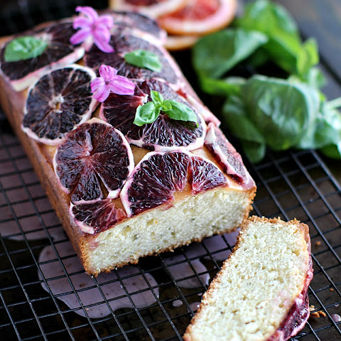 Basil Blood Orange Pound Cake