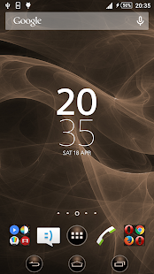 Smoke Copper Xperien Theme - screenshot