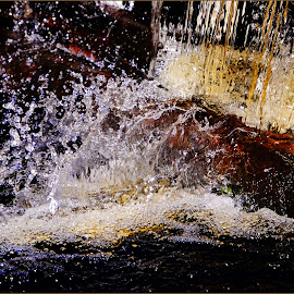 The Splash by Jan Arvid Solem - Nature Up Close Natural Waterdrops ( water, nature, splashing, flowing, close up, droplets )