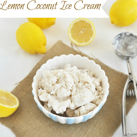 Lemon Coconut Ice Cream