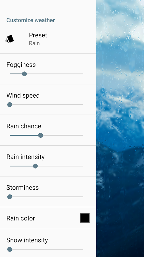 Rainpaper Screenshot 2