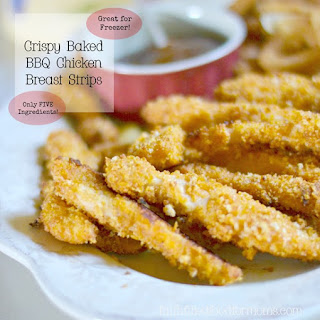 Crispy Baked BBQ Chicken Breast Strips
