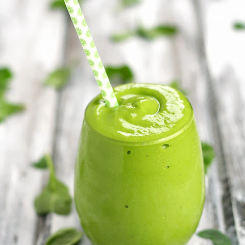 Banana Mango Avocado Green Smoothie + A Reader Survey!