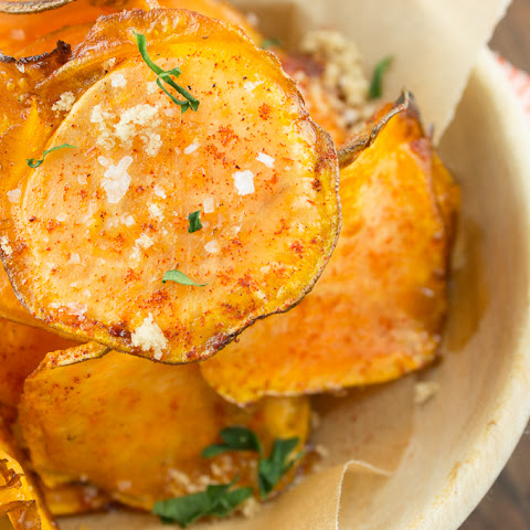 Paleo Sweet and Spicy Potato Chips