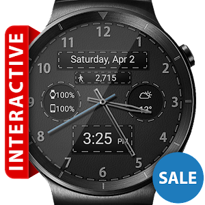 Cover art Black Leather HD Watch Face