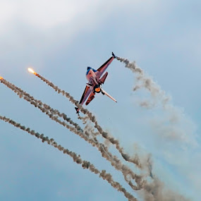 Royal Netherlands Air Force by Fabio Ponzi - Transportation Airplanes ( orange, sky, neederland, air, fire )