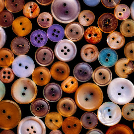 Old buttons by Roberto Sorin - Artistic Objects Clothing & Accessories ( different, nobody, sew, craft, fashion, clothing, colorful, plenty, retro, round, collection, through, circle, colour, style, accessory, button, stylish, dressmaking, various, tailor, needlewoman, seamstress, abstract, vintage, household, decoration, flat, wallpaper, attachment, variety, mix, many, sewing, pattern, color, item, background, tailoring, fastener, group )
