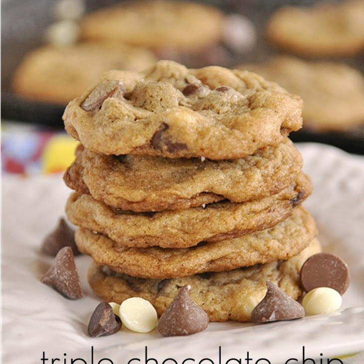 Triple Chocolate Chip Malt Cookies with Sea Salt Recipe | Yummly