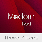 Modern Red Theme + Icons file APK Free for PC, smart TV Download